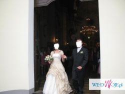 Sprzedam Nietuzinkową Suknie Ślubną rozmiar 38 + bolerko + podwiązka