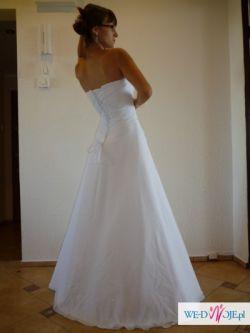 sprzedam NOWĄ suknie ślubną(r.36) z bolerkiem gratis + buty(r.39)
