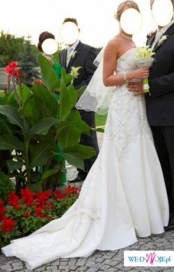 Sprzedam orginalną amerykańską suknię ślubną, jedyna w Polsce.