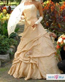 Sprzedam orginalną suknie w kolorze capucino