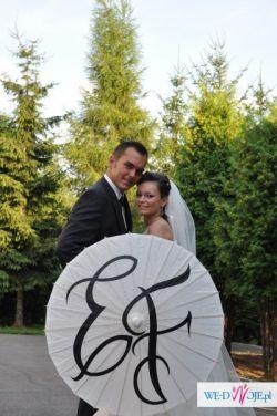 sprzedam oryginalna parasolkę ślubną