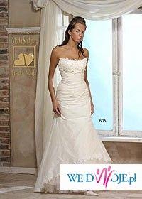 Sprzedam oryginalną suknię ślubną Urszuli Mateji model 605+ bolerko i welon