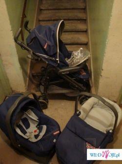 Sprzedam Peg Perego Pliko P3 OnTrack, komplet: wózek/gondola/fotelik - stan b.db