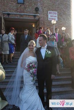 Sprzedam piękną, bardzo elegancką suknie  ślubną