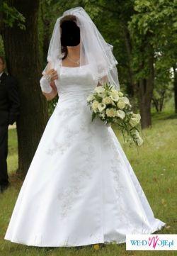 Sprzedam piękną, białą, prostą suknie