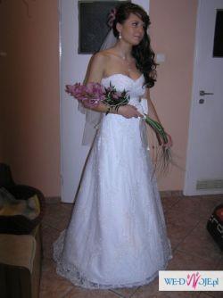 Sprzedam piękną białą suknię projektu Maggie Sottero