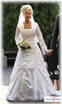 Sprzedam piękną, biała suknię ślubną