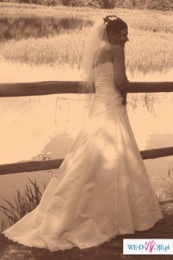 Sprzedam piękna białą, suknię ślubną