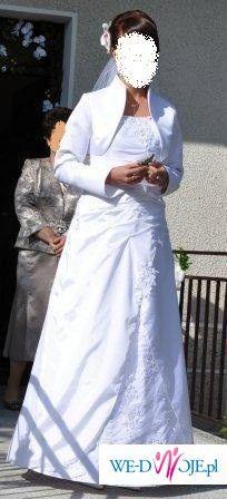 Sprzedam piękną białą suknię ślubną