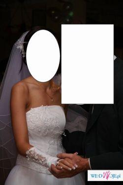 Sprzedam piękna, biała suknie ślubną(elbląg, olsztyn)