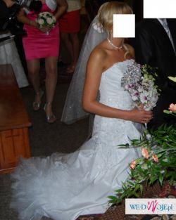 Sprzedam piękną białą suknię ślubną roz.36/38