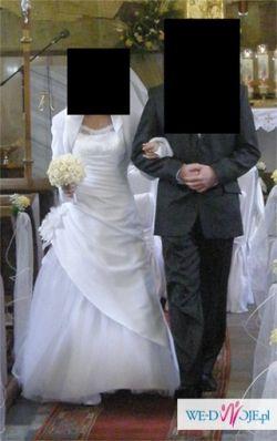 Sprzedam piękną białą suknię ślubną Senise r.38