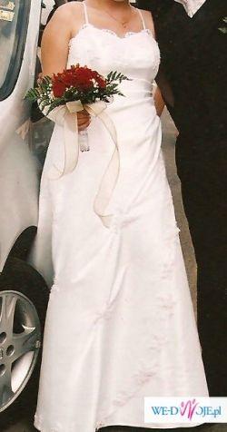 Sprzedam piekną delikatną suknie ŚLUBNĄ -okazja