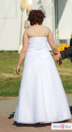 --- Sprzedam piękną długą suknię ślubną  ---