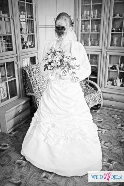 Sprzedam piękną dwuczęściową suknię ślubna koloru ecru
