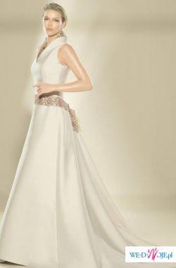 Sprzedam piękną, elegancką hiszpańską suknię ślubną – model Villais 2629.