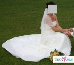 Sprzedam piękną, elegancką suknię ślubną - ANGELA
