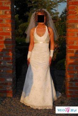 Sprzedam piękną elegancką suknię ślubną (rybkę).