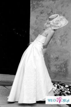 sprzedam piękną elegancką suknię slubną w kolorze eru