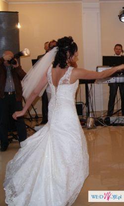 Sprzedam piękną i modną suknię ślubną koronkową