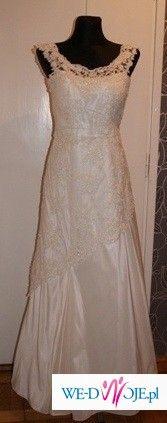 sprzedam piękną klasyczną suknię ślubną