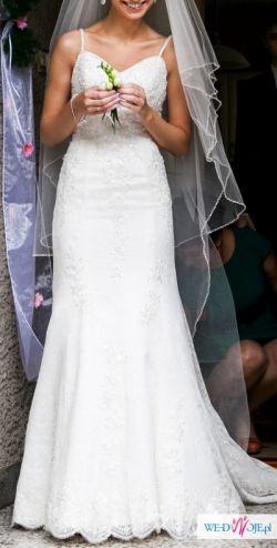 Sprzedam piękną koronkową suknię ślubną !