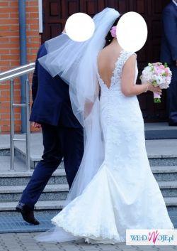 Sprzedam piękną, koronkową suknię ślubną