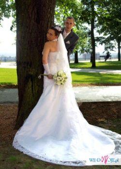 Sprzedam piękną koronkową suknie Tanio