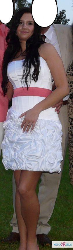 Sprzedam piękną krótką suknię ślubną firmy Angel