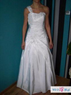 sprzedam piękną skromną suknię za 600 zł rozmiar 40 (cena do negocjacji!)