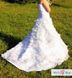 Sprzedam piękną suknię ślubą  z trenem
