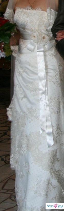 Sprzedam piękną  suknię ślubną,