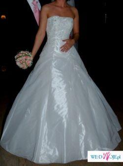 Sprzedam piękną suknię ślubną Agora (28-47) z kryształkami svarovskiego