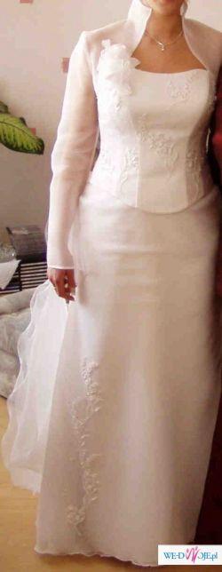 Sprzedam piękną suknię ślubną białą rozmiar 36/38!!!!