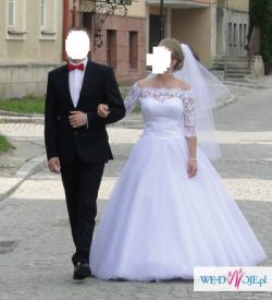 Sprzedam piękną suknię ślubną białą w rozm.36