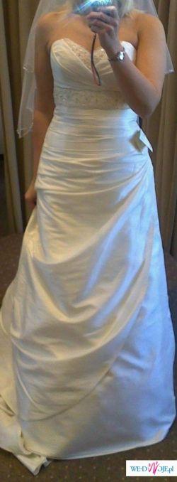 Sprzedam piękną suknię ślubną + dodatki
