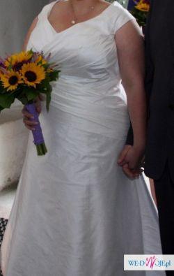 Sprzedam piękną suknię ślubną, duży rozmiar