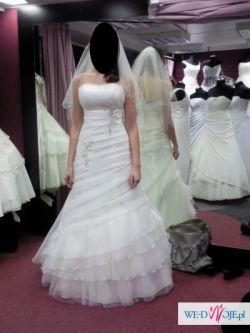 Sprzedam piękną suknie ślubną ecru