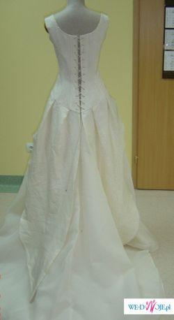 Sprzedam piękną suknię ślubną ecru - Cymbeline