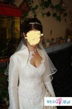 Sprzedam piękna suknię slubną ecru r. 36/38