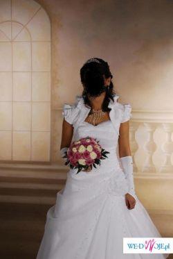 Sprzedam piękną suknię ślubną firmy Estera w bieli.