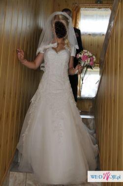 sprzedam piękną suknie ślubną firmy Herm's model Kelaz z salonu Jacqueline