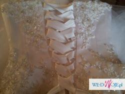 Sprzedam piękną suknię ślubną +gratisy