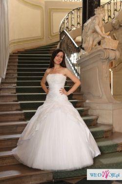 """Sprzedam piękną suknię ślubną """"księżniczkę"""""""