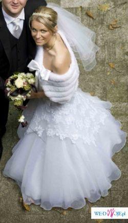 SPRZEDAM PIĘKNĄ SUKNIĘ ŚLUBNĄ Model Evita z kolekcji MS Moda 2007/2008