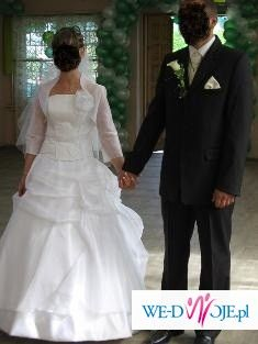 Sprzedam piękną suknię ślubną model Ofelia dwu częściowa plus dodatki