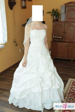 Sprzedam piękną suknię ślubną r. 34/36 + bolerko