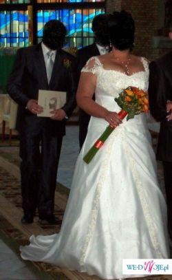 sprzedam piękną suknię ślubną, roz. 46-48
