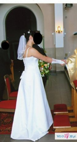 sprzedam piękną suknię ślubną rozmiar. 40/42