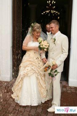 Sprzedam piekna suknie ślubna w kolorze ecri z tegorocznej kolekcji